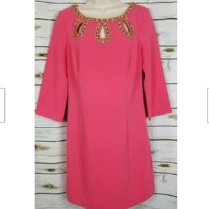Lilly Pulitzer Bronte Dress Beaded Watermelon